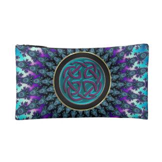 Keltisches Fraktal-leuchtender cooler Stern-Knoten Kosmetiktasche