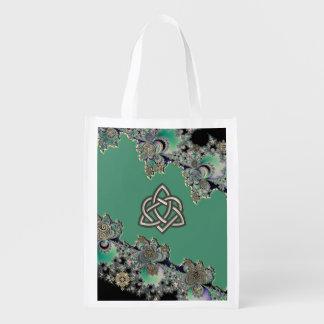 Keltisches Fraktal-mystische Wiederverwendbare Einkaufstasche