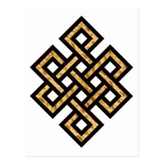 Keltisches Gold des Knoten-10 Postkarte