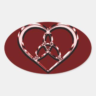 keltisches Herz Ovaler Aufkleber