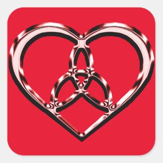keltisches Herz Quadratischer Aufkleber