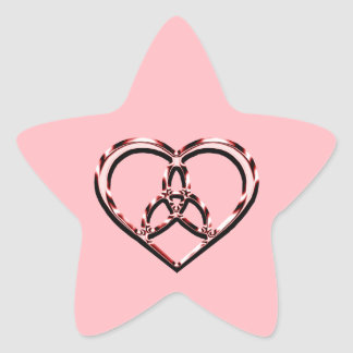 keltisches Herz Stern-Aufkleber