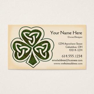 Keltisches irische Geschäfts-Karte des Visitenkarte