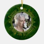 Keltisches Knoten-Grün-ErinnerungsFoto-Weihnachten