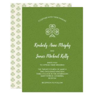 Keltisches Knoten-Kleeblatt, das 2 Wedding ist Karte