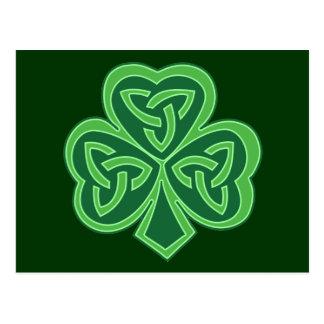 Keltisches Knoten-Kleeblatt Postkarte
