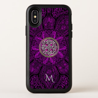 Keltisches Knoten-Mandala-Monogramm Otterbox OtterBox Symmetry iPhone X Hülle