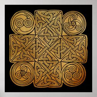 Keltisches Knüpfarbeit-Kreuz Poster