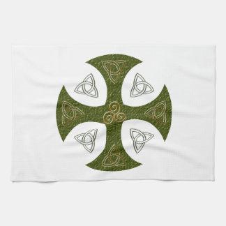 Keltisches Kreuz celtic cross Geschirrtuch