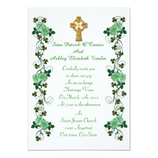 Keltisches Kreuz der irischen Hochzeitseinladung Karte