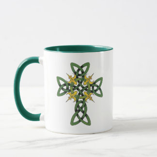 Keltisches Kreuz-Geschenk Tasse