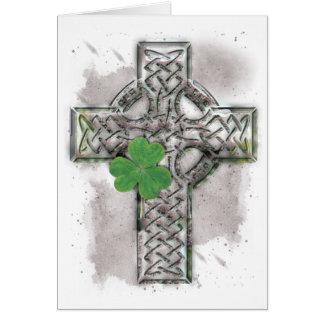 Keltisches Kreuz-Gruß-Karte Karte