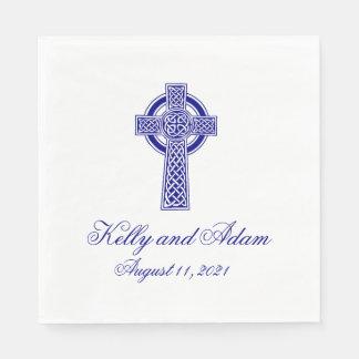 Keltisches Kreuz-personalisierte Papierservietten