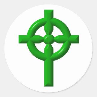 Keltisches Kreuz Runder Aufkleber