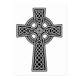 Keltisches Kreuz Schwarzweiss Postkarte