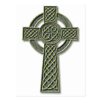 Keltisches Kreuz - Stein Postkarte