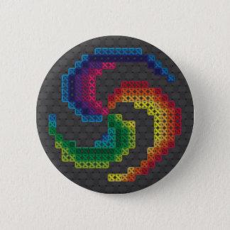 Keltisches Kreuz-Stich-Spirale Runder Button 5,7 Cm