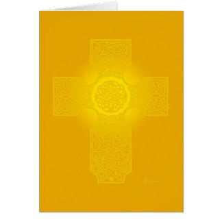 """Keltisches Kreuz """"Strahlen """" Karte"""