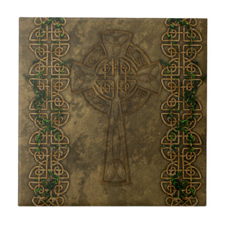 Keltisches Kreuz und keltische Knoten Keramikfliese
