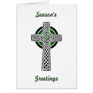 Keltisches Kreuz-Weihnachtskarte Karte