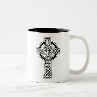 Keltisches Kreuz Zweifarbige Tasse