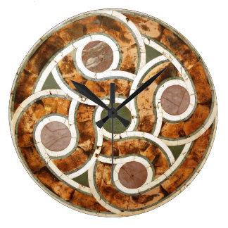 Keltisches Mosaik auf Acryluhr Große Wanduhr