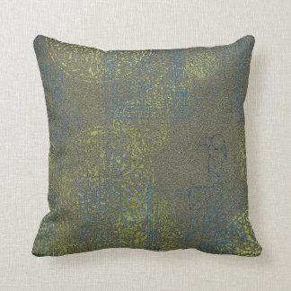 Keltisches Muster   grün und Blau mit Vogel Kissen