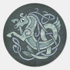 Keltisches Pferd Runder Aufkleber