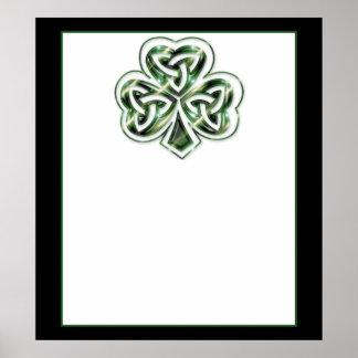 Keltisches Plakat des Kleeblatt-Entwurfs-2/Druck 2