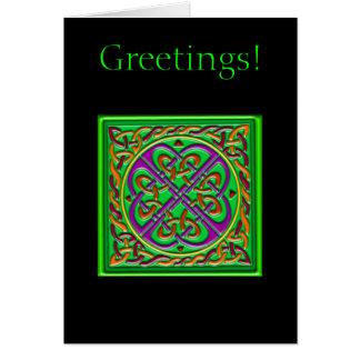 Keltisches quadratisches Grün Karte