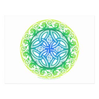 Keltisches Schild Postkarte