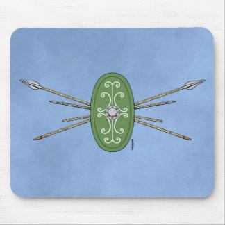 Keltisches Schild und Stangen Mousepads