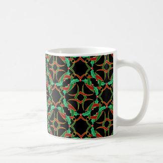 Keltisches Stechpalmen-Kranz-Muster-Weihnachten Kaffeetasse
