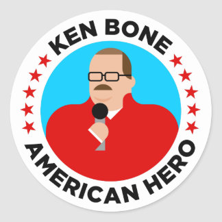 Ken-Knochen-amerikanische Held-Aufkleber (rund) Runder Aufkleber