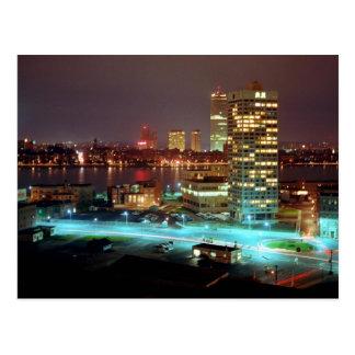 Kendall-Quadrat und Boston Skyline, 1967 Postkarte