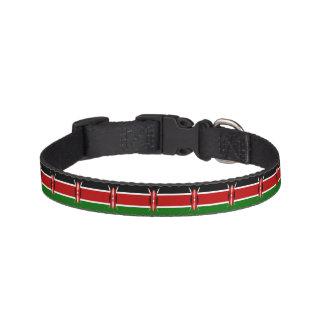 Kenia-Flagge Haustierhalsband