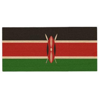 Kenia-Flagge Holz USB Stick 3.0