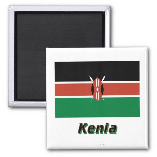 Kenia Flagge MIT Namen Kühlschrankmagnete