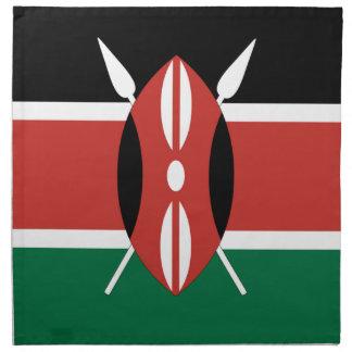 Kenia-Flagge Stoffserviette