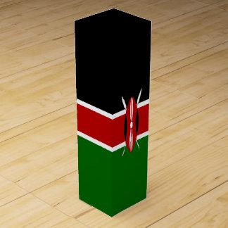 Kenia-Flagge Wein-Geschenkverpackung
