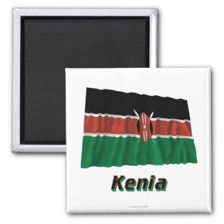 Kenia Fliegende Flagge MIT Namen Quadratischer Magnet