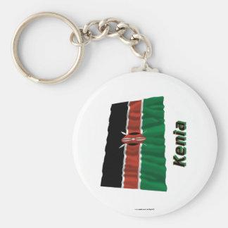 Kenia Fliegende Flagge MIT Namen Standard Runder Schlüsselanhänger