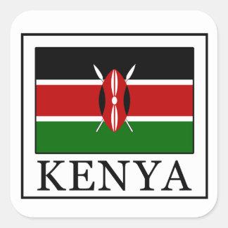 Kenia Quadratischer Aufkleber
