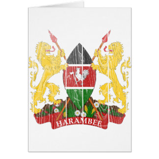 Kenia-Wappen Karte