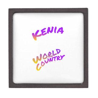 Kenia Weltland, bunte Textkunst Schmuckkiste
