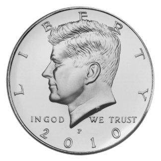 Kennedy-Dollar-großer Teller