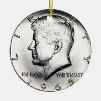 Kennedy-Dollar-Verzierung 1965 Keramik Ornament