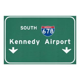 Kennedy-Flughafen JFK I-678 NYC New York City NY Fotodruck