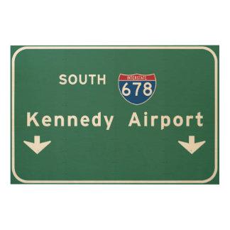 Kennedy-Flughafen JFK I-678 NYC New York City NY Holzleinwand