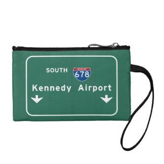 Kennedy-Flughafen JFK I-678 NYC New York City NY Münzbeutel